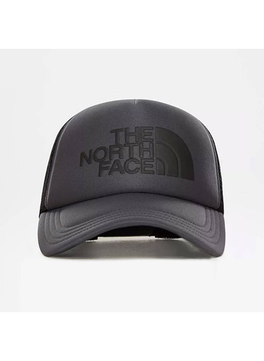 The North Face Logo Trucker Şapka Gri/Siyah Gri